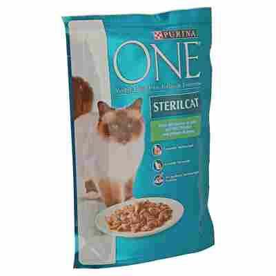Katzennassfutter One® Sterilcat mit Truthahn/grünen Bohnen 85 g