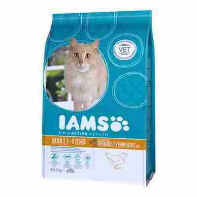 """Katzentrockenfutter """"Adult"""" übergewichtige und sterilisierte Katzen Huhn 0,85 kg"""
