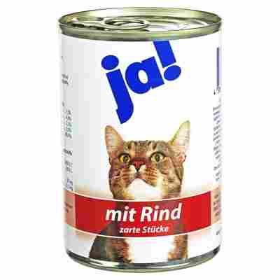 Katzennassfutter mit Rind 415 g