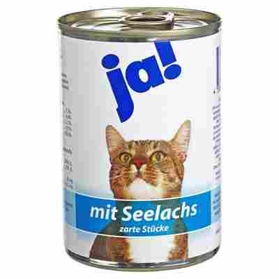 Katzennassfutter mit Seelachs 415 g