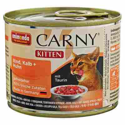 """Katzennassfutter """"Carny"""" Kitten mit Rind/Kalb/Huhn 200 g"""