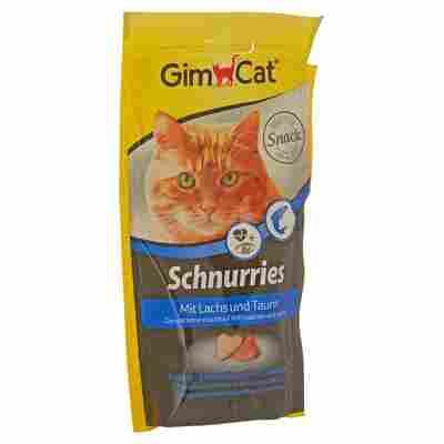 """Katzensnack """"Schnurries"""" mit Lachs/Taurin 40 g"""