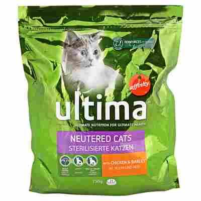 """Katzentrockenfutter """"Sterilisierte Katzen"""" Huhn und Reis 750 g"""