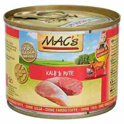Katzennassfutter 200 g Kalb/Pute