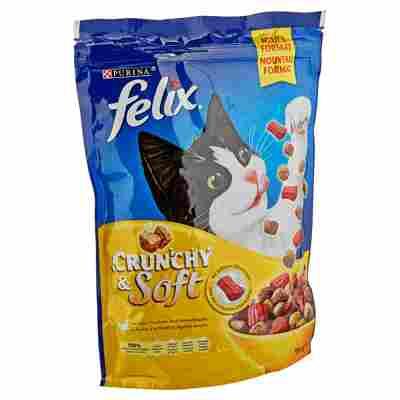 """Katzentrockenfutter """"Crunchy & Soft"""" mit Huhn/Truthahn/Gemüse 950 g"""