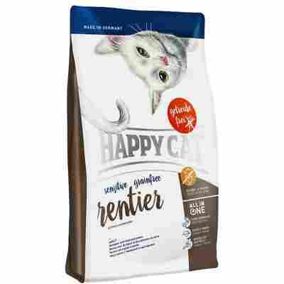 Katzentrockenfutter 'Sensitive Grainfree' Rentier 300 g