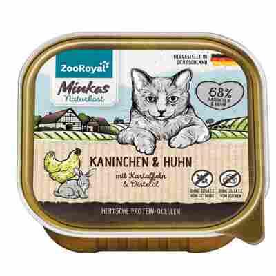 Katzennassfutter Adult Kaninchen und Huhn mit Kartoffeln und Distelöl 100 g
