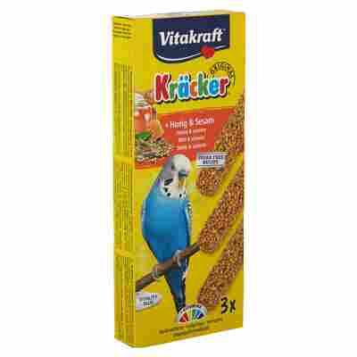 Sittichfutter Kräcker® Original Honig/Sesam 3 Stück