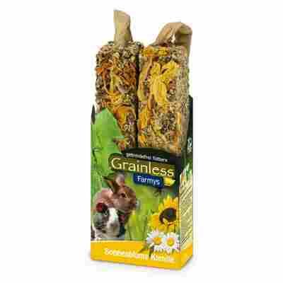 Nagersnack 'Grainless Farmys' Sonnenblume-Kamille 140 g