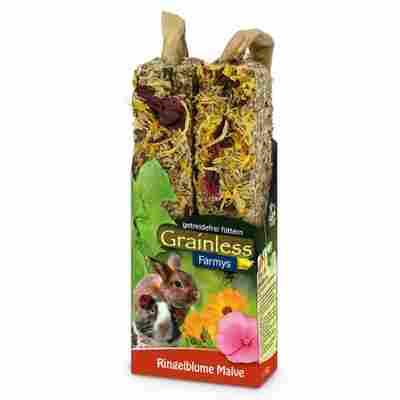 Nagersnack 'Grainless Farmys' Ringelblume-Malve 140 g