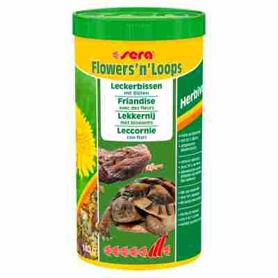 """Mischfuttermittel """"Flowers'n'Loops"""" Herbivor 140 g"""