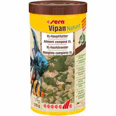 Zierfischfutter 'Vipan Nature' Großflocke 210 g (1 l)
