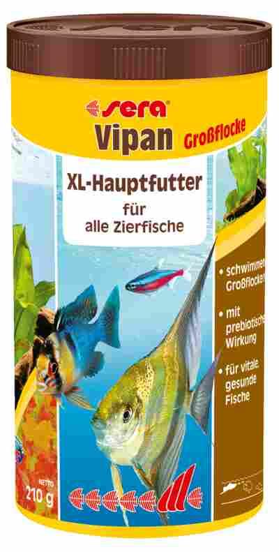 Fischfutter Vipan Großflocken 210 g