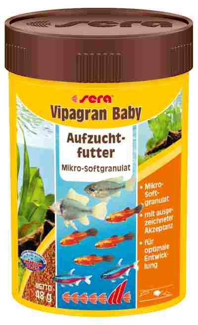 Fischfutter Vipagran Baby Hauptfutter 48 g