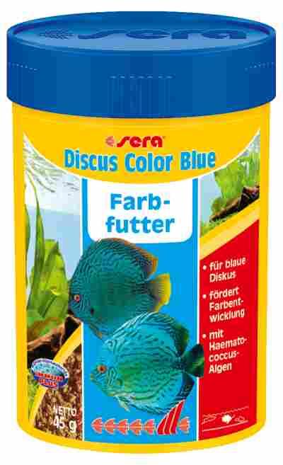 Fischfutter Discus Color Blue Granulat 48 g