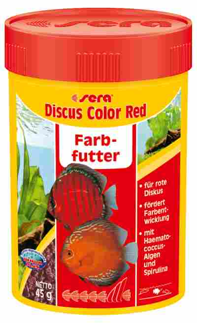 Fischfutter Discus Color Red Granulat 48 g
