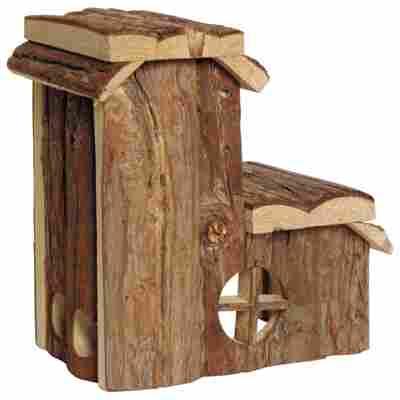 Nagerhaus mit Futtersilo Holz 17 x 11 x 20 cm