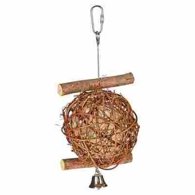 """Vogelzubehör """"Wooden Bird Ball"""" Echtholz Ø 10 cm"""