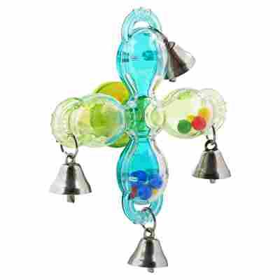 Vogelspielzeug Rad mit Glocken Kunststoff