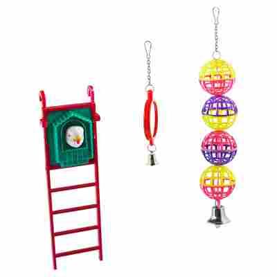 Vogelspielzeugset Leiter Kunststoff
