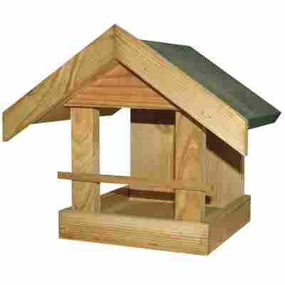 Vogelfutterhaus mit grünem Dach 21 x 25 x 22 cm