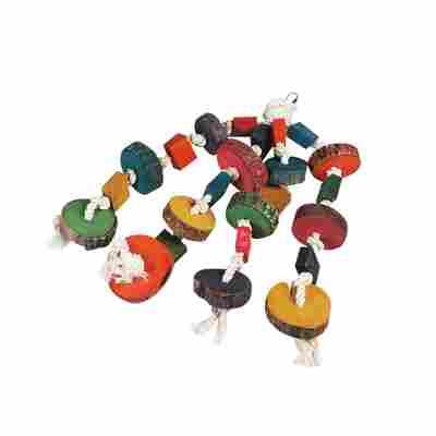 Papageienspielzeug Perlenhänger 4 Seile