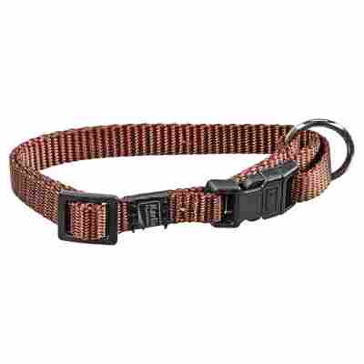 Hundehalsband braun 20 - 35 x 1 cm