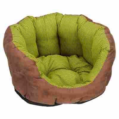 "Hundekorb ""Spring"" Polyester/Baumwolle braun/grün 50 x 40 x 20 cm"