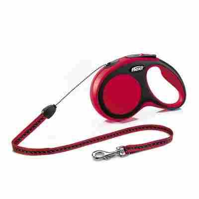Hunde-Seilrollleine 'New Comfort' rot, Größe S, max. 12 kg, 800 cm