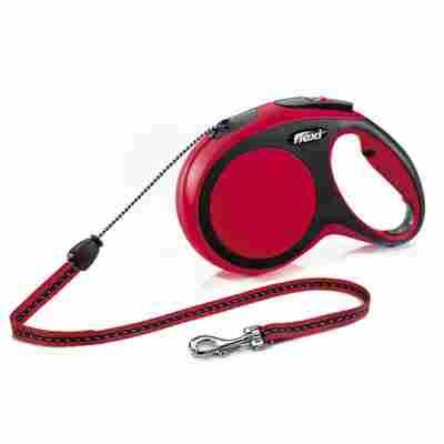 Hunde-Seilrollleine 'New Comfort' rot, Größe M, max. 20 kg, 800 cm