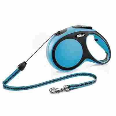 Hunde-Seilrollleine 'New Comfort' blau, Größe S, max. 12 kg, 800 cm
