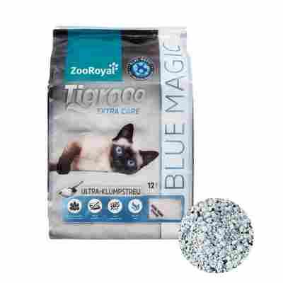 Katzenstreu klumpend mit blauen Signalperlen, 12 l, Frischeduft