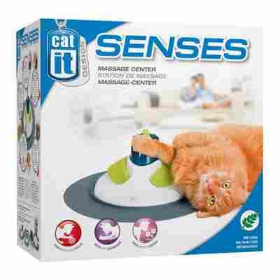 Katzen-Massagespielzeug mit Katzenminze, weiß/grün/blau