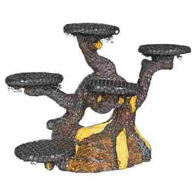 """Dekobonsaibaum """"Nano"""" Kunststoff graubraun 19,5 x 12 x 9 cm"""