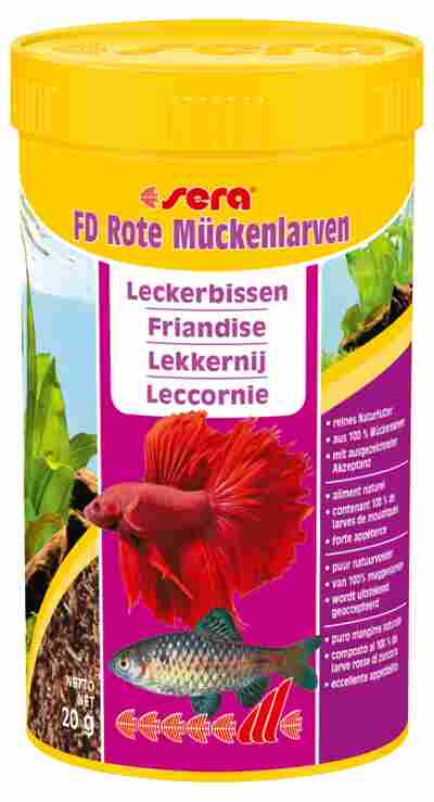 """Fischfutter """"FD Rote Mückenlarven"""" Leckerbissen 20 g"""