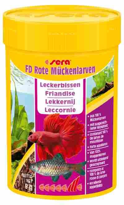 """Fischfutter """"FD Rote Mückenlarven"""" Leckerbissen 9 g"""