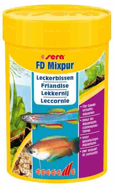 """Fischfutter """"FD mixpur"""" Leckerbissenmischung 12 g"""