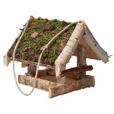 Vogelhaus mit Moosdach 25 x 23 x 26 cm