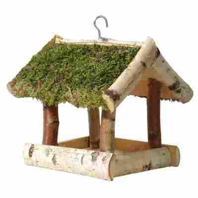 Vogelfutterhaus mit Moosdach 26 x 26 x 30 cm