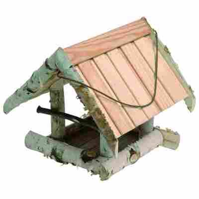 Vogelfutterhaus mit Holzdach 26 x 24 x 24 cm
