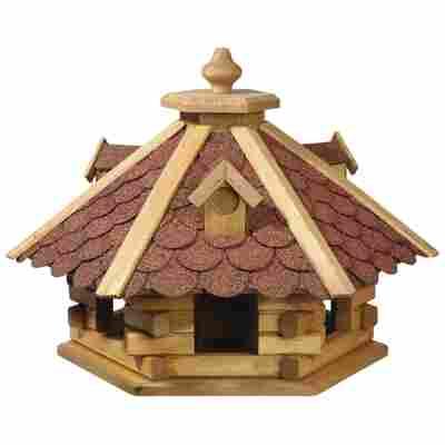 Vogelfutterhaus mit rotem Bitumendach 51 x 37 x 45 cm