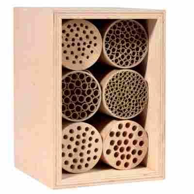 Wildbienennisthilfen Holz und Papier