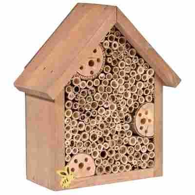 Insektenhotel braun mit Spitzdach, klein
