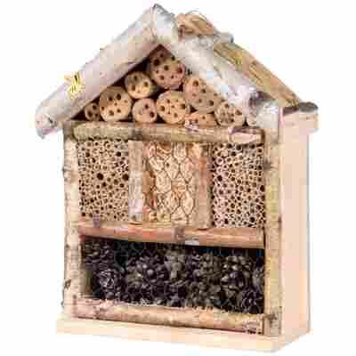 Insektenhotel 'Rustikal' mit Schilfdach