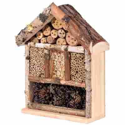 Insektenhotel 'Rustikal' mit Rindendach