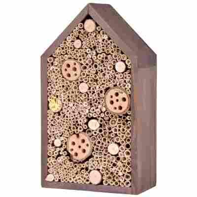 Insektenhotel braun mit Spitzdach, groß
