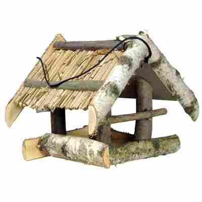 Vogelfutterhaus mit Schilfdach 24 x 22,5 x 26 cm