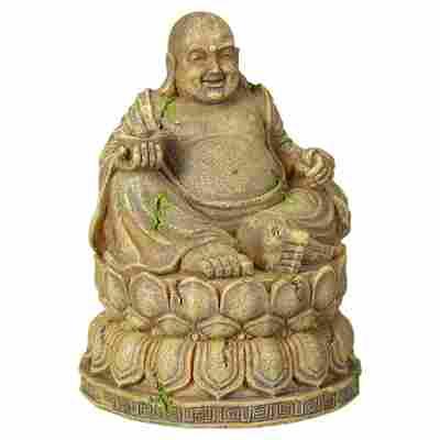 Aquariendekoration Buddha beige 9,5 x 12,5 x 9,5 cm Gr. M