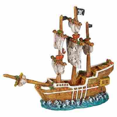 Aquariendekoration Segelschiff mehrfarbig 21 x 7 x 18 cm