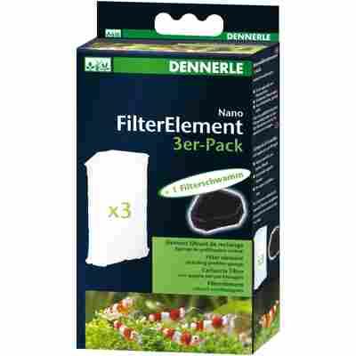 """Filterelemente """"Nano"""" mit Filterschwamm 3 Stück"""